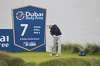 Stuart Manley (WAL) on the 7th tee during Round 2 of the Irish Open at LaHinch Golf Club, LaHinch, Co. Clare on Friday 5th July 2019.<br /> Picture:  Thos Caffrey / Golffile<br /> <br /> All photos usage must carry mandatory copyright credit (© Golffile | Thos Caffrey)
