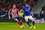Ander Capa of Athletic de Bilbao (R) competes for the ball with Filipe Luis of Atletico de Madrid during the La Liga 2018-19 match between Atletico de Madrid and Athletic de Bilbao at Wanda Metropolitano, on November 10 2018 in Madrid, Spain. Photo by Diego Gouto / Power Sport Images