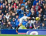 Barrie McKay jumps up to trap the ball with his left foot