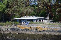 Cabin with Solar Panels, Shaw Island, San Juan Islands, Washington, US
