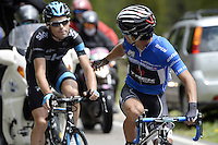 ITALIA - 29-05-2014. Julian Arredondo, ciclista colombiano del equipo Trek durante etapa 18 entre Belluno y Panarotta sobre 171 kilómetros, y se ha apuntado la victoria en la cima de Panarotta en la versión 97 del Giro de Italia / Julian Arredondo, Colombian cyclist of the Trek Team during the stage 18 between Belluno and Panarotta about 171 kilometers, and has registered the win on top of Panarotta in version 97 of the Giro d'Italia.    Photo: VizzorImage/ Fabio Ferrari / LaPresse……….VIZZORIMAGE PROVIDES THE ACCESS TO THIS PHOTOGRAPH ONLY AS A PRESS AND EDITORIAL SERVICE AND NOT IS THE OWNER OF COPYRIGHT; ANOTHER USE HAVE ADDITIONAL PERMITS AND IS  REPONSABILITY OF THE END USER