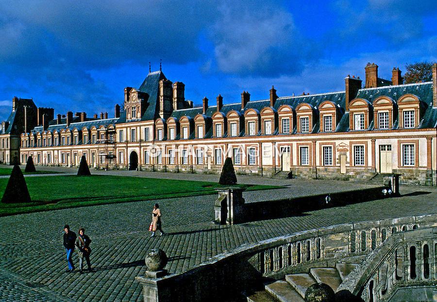 Palácio Fointanebleu em Paris. França. 1996. Foto de Nair Benedicto.
