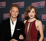 Nathan Johnson and Laura Osnes attends the Broadway Opening Night After Party of 'Bandstand' at the Edison Ballroom on 4/26/2017 in New York City.