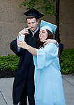WATERBURY, CT- 21 June  2017-062117CM03-  Waterbury Arts Magnet School graduates Justin Weaver and Madison Turrell have fun with a photo during commencement exercises at the Palace Theater in Waterbury on Wednesday.  Christopher Massa Republican-American