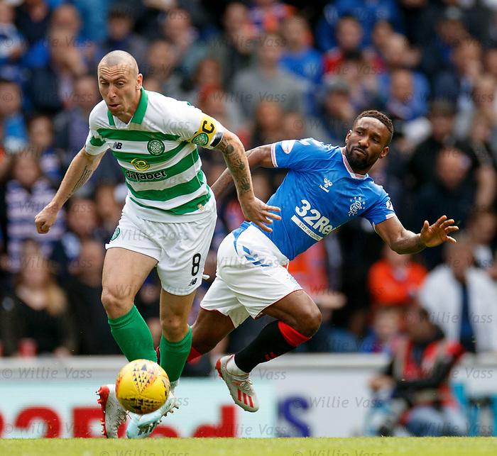01.09.2019 Rangers v Celtic: Scott Brown and Jermain Defoe