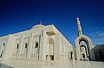 Muscat's Sultan Qaboos Grand Mosque. Completed in 2001, it is the first mosque in the country where.non-Muslims are permitted to enter.