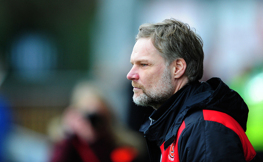 Fleetwood Town manager Steven Pressley <br /> <br /> Photographer Chris Vaughan/CameraSport<br /> <br /> Football - The Football League Sky Bet League One - Fleetwood Town v Scunthorpe United  - Saturday 20th February 2016 - Highbury Stadium - Fleetwood    <br /> <br /> &copy; CameraSport - 43 Linden Ave. Countesthorpe. Leicester. England. LE8 5PG - Tel: +44 (0) 116 277 4147 - admin@camerasport.com - www.camerasport.com