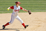 MADISON, WI - APRIL 16: Lynn Anderson #5 of the Wisconsin Badgers softball team throws the ball against the Indiana Hoosiers at Goodman Diamond on April 16, 2007 in Madison, Wisconsin. (Photo by David Stluka)