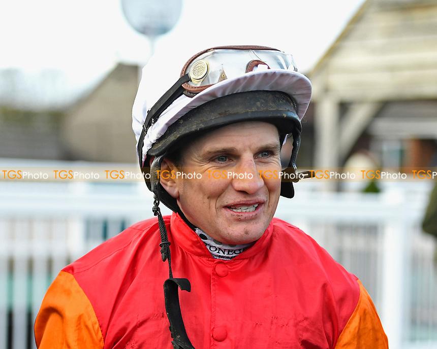 Jockey Jamie Moore during Horse Racing at Plumpton Racecourse on 10th February 2020