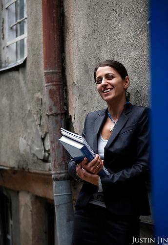 Portrait of Ana Katamidze in Tbilisi.