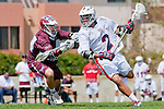 Los Angeles, CA 03/20/10 - Mike Hook (Arizona # 2) and Andrew Manglapus (LMU # 14) in action during the Arizona-Loyola Marymount University MCLA game at Leavey Field (LMU).  LMU defeated Arizona 13-6.