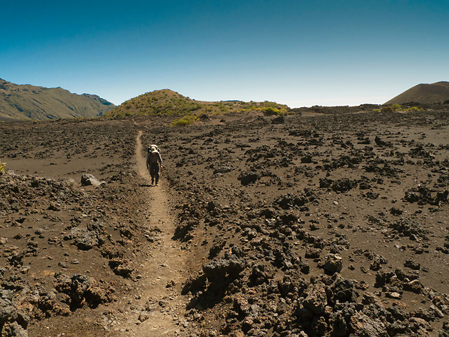 Halakala crater Maui Hawaii, backpacking