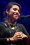 Yudith Nieto, community organizer, activist and artist from Houston, Texas speaks at the Powershift 2013 plenary in Pittsburgh, PA. (Photo by: Robert van Waarden)