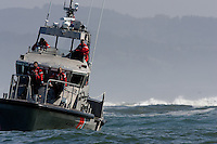 US Coast Guard. Mavericks Surf Contest in Half Moon Bay, California on February 13th, 2010.