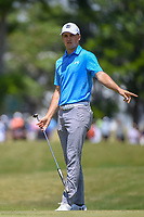 Jordan Spieth (USA) watches his putt on 1 during Round 2 of the Zurich Classic of New Orl, TPC Louisiana, Avondale, Louisiana, USA. 4/27/2018.<br /> Picture: Golffile | Ken Murray<br /> <br /> <br /> All photo usage must carry mandatory copyright credit (&copy; Golffile | Ken Murray)