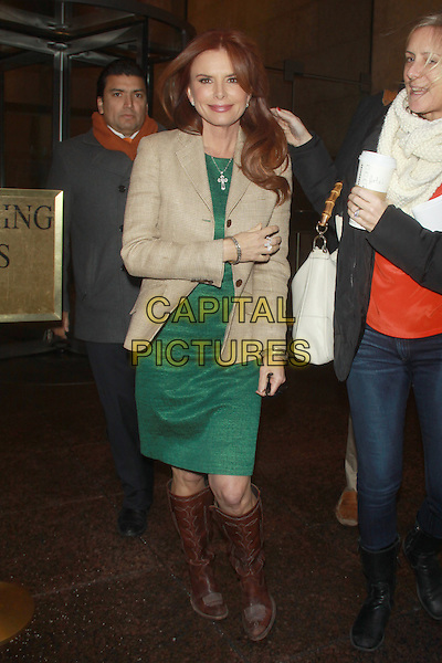NEW YORK, NY - FEBRUARY 26: Roma Downey seen at NBC Studios in New York City on February 26, 2014. <br /> CAP/MPI/RW<br /> &copy;RW/ MediaPunch/Capital Pictures