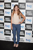 Veki Velilla poses at `Dioses y perros´ film premiere photocall in Madrid, Spain. October 07, 2014. (ALTERPHOTOS/Victor Blanco) /nortephoto.com