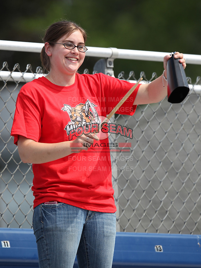 Batavia Muckdogs fan at Dwyer Stadium on July 19, 2011 in Batavia, New York.  (Mike Janes/Four Seam Images)