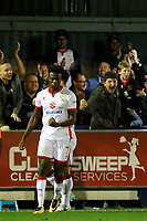 GOAL - Milton Keynes' Gboly Ariyibi makes it 2-0 during the Sky Bet League 1 match between AFC Wimbledon and MK Dons at the Cherry Red Records Stadium, Kingston, England on 22 September 2017. Photo by Carlton Myrie / PRiME Media Images.