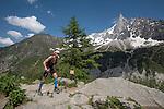 Chamonix trail running 80 Km 2016, Mont Blanc 4810m, Chamonix, Haute Savoie, French Alps, France, Europe