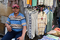 Tripoli, Libya - Medina Street Scene, Clothing Salesman