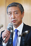 Kiichiro Matsumaru, SEPTEMBER 1, 2016 : Japanese Olympic Committee's independent panel commission releases the research report of suspicious payment made to Black Tidings a Singapore-based firm, in Tokyo, Japan. The report said there had found nothing illegal in a payment made to Black Tidings, prior to Tokyo winning the host of the 2020 Summer Games. (Photo by Sho Tamura/AFLO SPORT)
