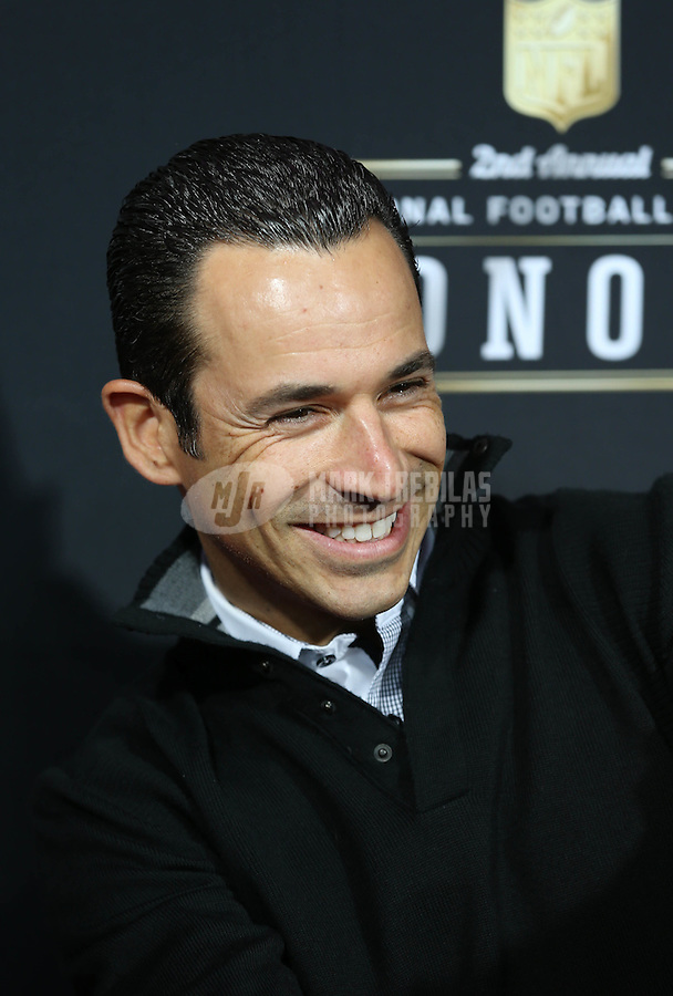 Feb. 2, 2013; New Orleans, LA, USA: Indy Car Series driver Helio Castroneves on the red carpet prior to the Super Bowl XLVII NFL Honors award show at Mahalia Jackson Theater. Mandatory Credit: Mark J. Rebilas-USA TODAY Sports