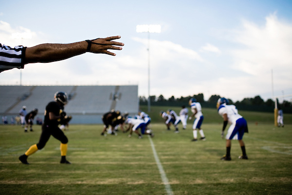 August 9, 2008. Durham, NC.. The Triangle Rattlers played the Monroe Mustangs, earning their first regular season victory, after 2 last minute losses to late game field goals.. The final score was 34 to 8, with the Rattlers hoping to continue the wins and get to the playoffs.