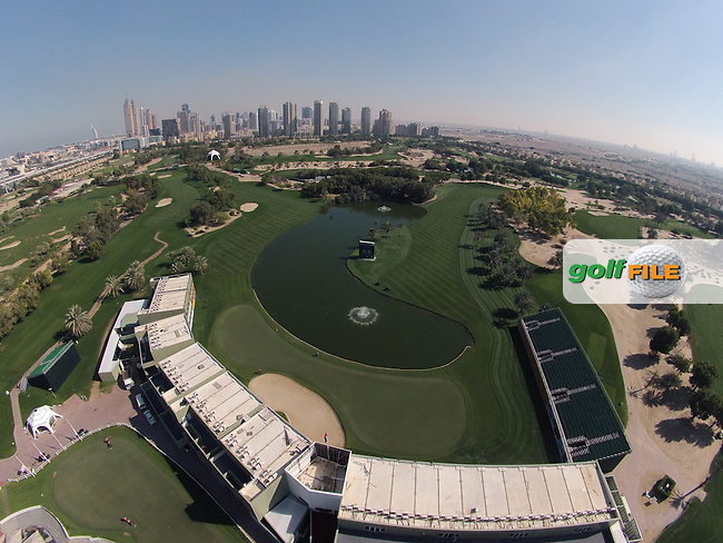 All set and ready for the Omega Dubai Desert Classic, Emirates Golf Club, Dubai, United Arab Emirates.<br /> Picture Fran Caffrey/Golffile