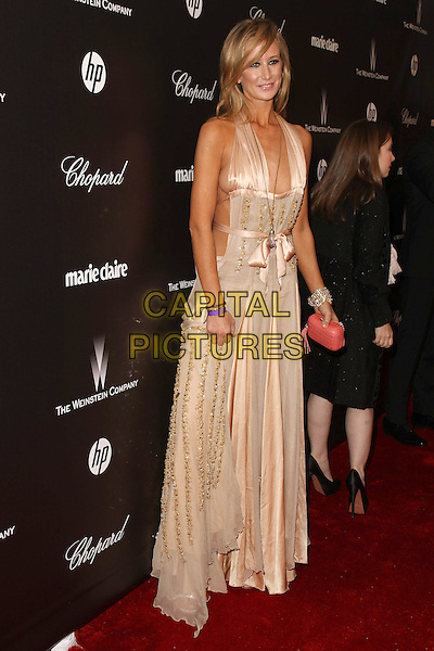 Lady Victoria Hervey.The Weinstein Company 2012 Golden Globe Awards After Party held at  Bar 210 at the Beverly Hilton Hotel, Hollywood, California, USA..January 15th, 2012.globes full length beige cream dress halterneck side boob cleavage gold  .CAP/ADM/CH.©Charles Harris/AdMedia/Capital Pictures