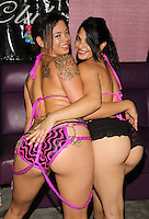 Rosemarie, Sasha [Goldfinger Gentlemen's Club] at Exxxotica, Broward County Convention Center, Fort Lauderdale, FL, Friday May 2, 2014.