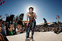 COACHELLA,CA - APRIL17,2009: Jesselynn Desmond, a performer with the Lucent Dossier Vaudeville Circus Troupe. Friday, April 17, 2009, at the Coachella Valley Music and Arts Festival. The event, which begins its 10th yeartoday, is one of the nation's preeminent music festivals.