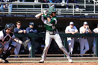 CARY, NC - FEBRUARY 23: Cody Bey #28 of Wagner College waits for a pitch during a game between Wagner and Penn State at Coleman Field at USA Baseball National Training Complex on February 23, 2020 in Cary, North Carolina.