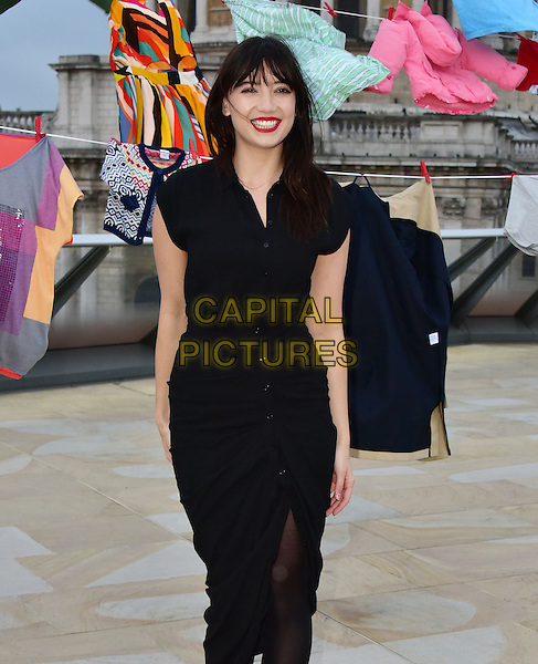 Model Daisy Lowe takes part in photocall to launch new Give Up Clothes for Good campaign, for which she has donated key pieces of clothing from her wardrobe. Department store chain TK Maxx partners with Give Up Clothes For Good charity campaign, to raise more funds for Cancer Research UK Kids &amp; Teens and help to beat childhood cancers sooner. <br /> London, England, 2nd February 2016.<br /> CAP/JOR<br /> &copy;JOR/Capital Pictures