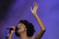 English singer CORINE BAILEY RAE  performs during Rock in Rio festival at Bela Vista park in Lisbon, 4JUNE  2006.