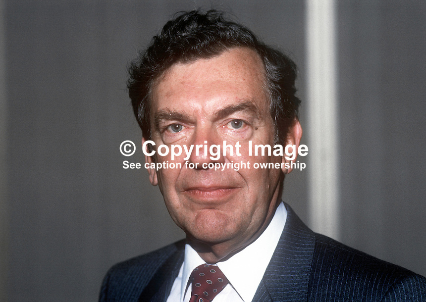 Dr Sam Love, chief executive, Du Pont Company UK Limited, based Maydown, near Londonderry, N Ireland, April, 1986, 19860409SL2<br /> <br /> Copyright Image from Victor Patterson, 54 Dorchester Park, <br /> Belfast, UK, BT9 6RJ<br /> <br /> t1: +44 28 9066 1296 (from Rep of Ireland 048 9066 1296)<br /> t2: +44 28 9002 2446 (from Rep of Ireland 048 9002 2446)<br /> m: +44 7802 353836<br /> <br /> e1: victorpatterson@me.com<br /> e2: victorpatterson@gmail.com<br /> <br /> www.victorpatterson.com<br /> <br /> Please see my Terms and Conditions of Use at VICTORPATTERSON.COM. It is IMPORTANT that you familiarise yourself with them.<br /> <br /> Images used on the Internet must be visibly watermarked i.e. &copy;VICTORPATTERSON.COM within the body of the image and copyright metadata must not be deleted. Images used on the Internet have a size restriction of 4kbs and are chargeable at the then current NUJ rates.<br /> <br /> This image is only available for the use of the download recipient i.e. television station, newspaper, magazine, book publisher, etc, and must not be passed on to any third party. It is also downloaded on condition that each and every usage is notified within 7 days to victorpatterson@me.com<br /> <br /> The right of Victor Patterson to be identified as the author is asserted in accordance with The Copyright Designs And Patents Act (1988).