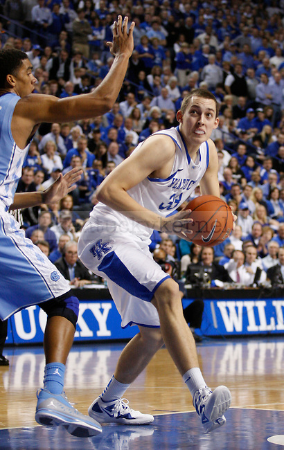 Kyle Wiltjer looks to take a shot in the game between the University of Kentucky and the University of North Carolina, at Rupp Arena in Lexington, Ky., on Saturday, Dec. 3, 2011. Photo by Latara Appleby | Staff ..