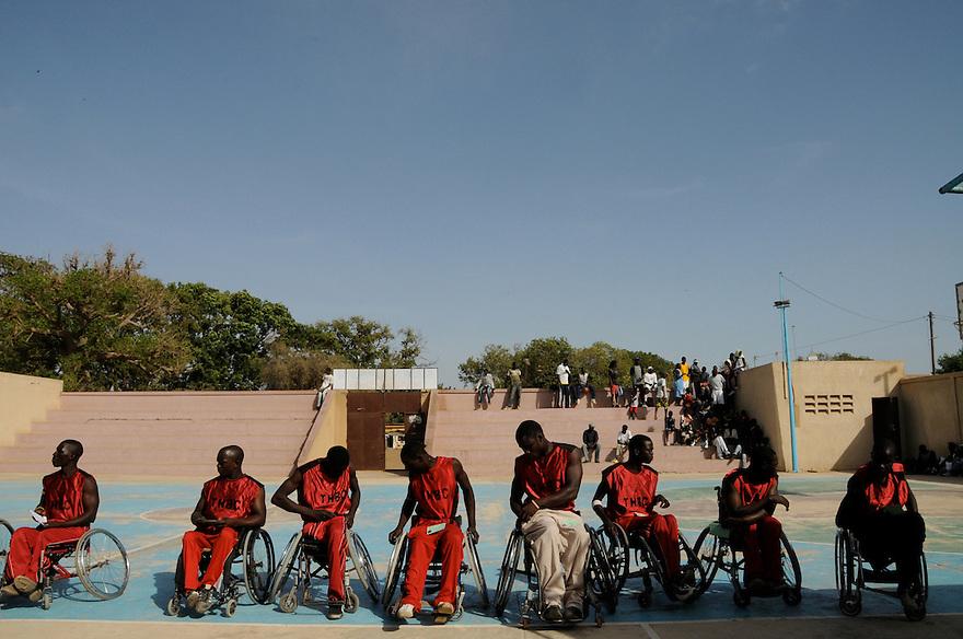 Dakar, Senegal (2008) - The team prepares for a game.
