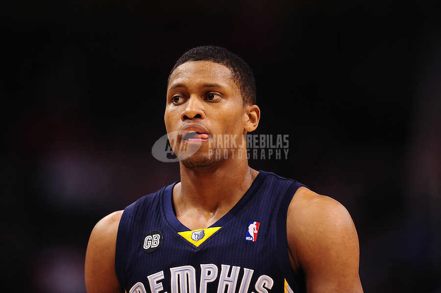 Jan. 28, 2012; Phoenix, AZ, USA; Memphis Grizzlies forward Rudy Gay against the Phoenix Suns at the US Airways Center. The Suns defeated the Grizzlies 86-84. Mandatory Credit: Mark J. Rebilas-USA TODAY Sports