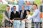 Prof Alexander Gillespie rom New Zeland held a lecture on Eco Tourism with respect to Tralee Bay and areas around the County at the IT Tralee North Campus on Saturday, pictured from From L/r Dick Spring - Prof Alexander Gillespie, Jim Finucane, Mary Rose Stafford Lacey and AJ Spring Mayor of Tralee.