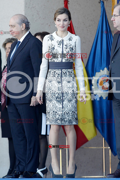 Queen Letizia of Spain attends the delivery ceremony of the Spanish flag to Spanish Police on November 10, 2015 in Avila, Spain.(ALTERPHOTOS/Acero)