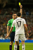 Real Madrid´s Alvaro Arbeloa during 2014-15 La Liga match between Real Madrid and Deportivo de la Coruna at Santiago Bernabeu stadium in Madrid, Spain. February 14, 2015. (ALTERPHOTOS/Luis Fernandez) /NORTEphoto.com