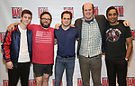 Sawyer Nunes, Jay Klaitz, Mitchell Jarvis, Paul Whitty and Manu Narayan attend the Meet and Greet for Broadway's 'Gettin' the Band Back Together' on May 4, 2018 at Manhattan Movement & Arts Center in New York City.
