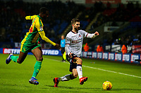 Bolton Wanderers' Luke Murphy takes on West Bromwich Albion's Rekeem Harper<br /> <br /> Photographer Alex Dodd/CameraSport<br /> <br /> The EFL Sky Bet Championship - Bolton Wanderers v West Bromwich Albion - Monday 21st January 2019 - University of Bolton Stadium - Bolton<br /> <br /> World Copyright © 2019 CameraSport. All rights reserved. 43 Linden Ave. Countesthorpe. Leicester. England. LE8 5PG - Tel: +44 (0) 116 277 4147 - admin@camerasport.com - www.camerasport.com