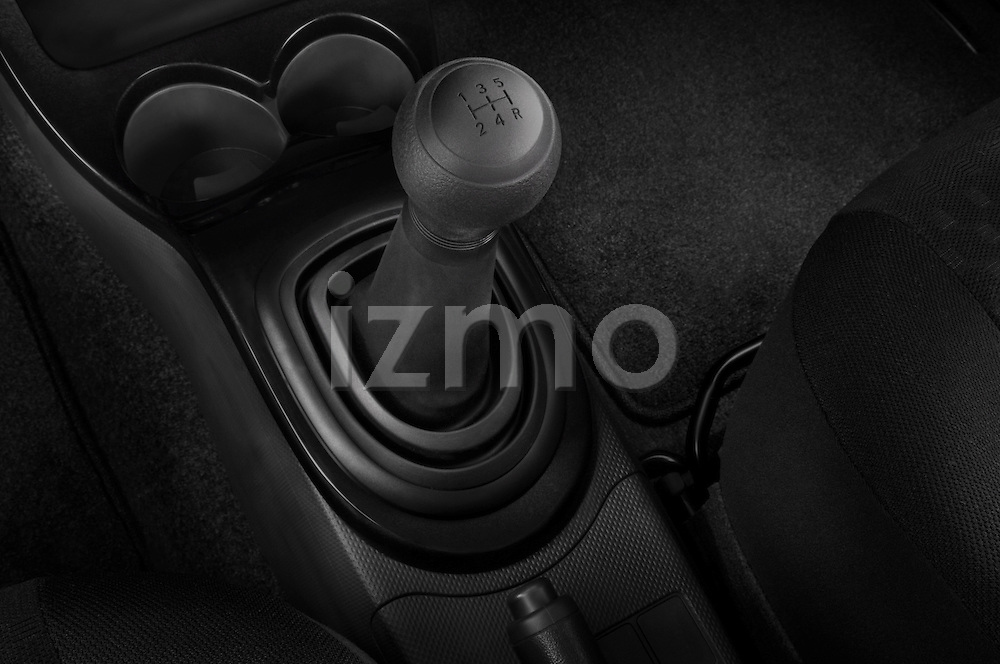 Gear shift detail view of a 2008 Scion XD