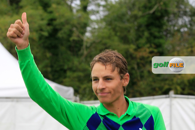 Joakim Lagergren (SWE) wins the Northern Ireland Open Challenge in Galgorm Golf Club on Sunday 31st August 2014.<br /> Picture:  Thos Caffrey / www.golffile.ie