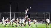 3rd December 2017, Twickenham Stoop, London, England; Aviva Premiership rugby, Harlequins versus Saracens; George Merrick of Harlequins takes the lineout ball