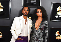 Miguel, left, and Nazanin Mandi arrive at the 61st annual Grammy Awards at the Staples Center on Sunday, Feb. 10, 2019, in Los Angeles. (Photo by Jordan Strauss/Invision/AP)