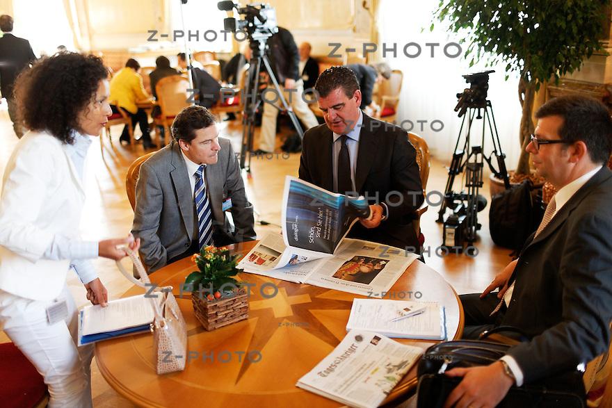 Interview und Portrait von Peter Spuhler / Nationalrat, Inhaber und CEO der Stadler Rail im Bundeshaus in Bern am 15. September 2011..Copyright © Zvonimir Pisonic