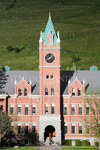 Main Hall on the University of Montana campus in Missoula, Montana